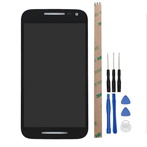 HYYT Reparatur und Ersatz LCD Display + Touchscreen Digitizer für Motorola Moto G3 mit Frei Werkzeuge (Schwarz) (Moto-screen-ersatz)