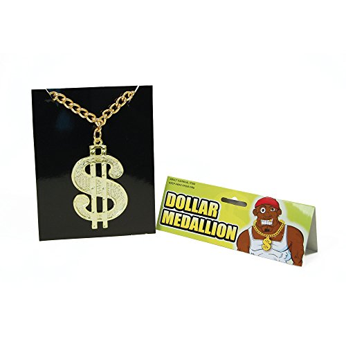 (Bristol Novelty BA510 Dollar Medaillon an Kette, One Size)