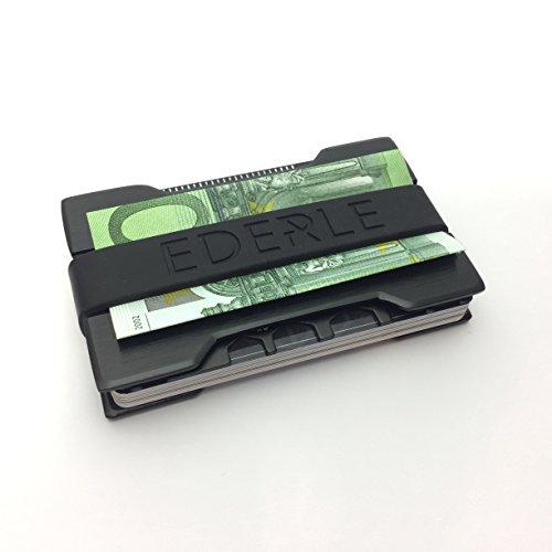 NEU - Premium Kreditkartenetui im Set – inklusive Geldklammer – hochwertiger Kreditkartenhalter aus stabilem Aluminium – praktisches Kartenetui mit RFID/ NFC Schutz – für bis zu 17 Karten (Nylon Jacobs Marc)