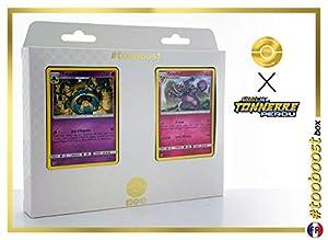 Tutankafer (Cofagrigus) 100/214 Y Granbull 138/214 - #tooboost X Soleil & Lune 8 Tonnerre Perdu - Box de 10 Cartas Pokémon Francés + 1 Goodie Pokémon