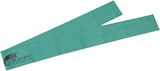 SAHNI SPORTS Latex Exercise Resistance Stretch Band Medium, 1.5 meters, Green