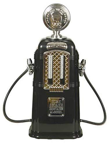 JASNO Doppelter Gas-Pumpen-Alkohol-Verteiler Chrom Überzogene 1080 ML-Kapazitäts-Ministab-Zusätze Tankstelle-Art-Flüssigkeit, Die Unterschiedliche Werkzeuge Trinkt,Black Gas Pump Dispenser