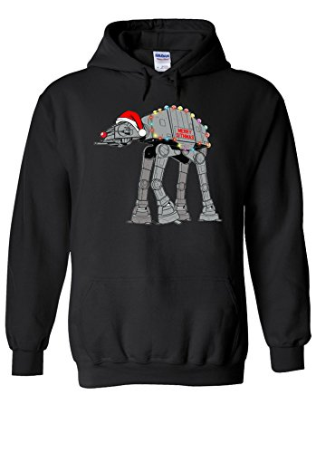 Star Wars Inspired Christmas AT-AT Novelty Black Men Women Unisex Hooded Sweatshirt Hoodie-XXL