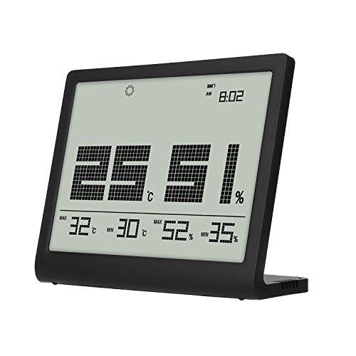 Hovnee Hygrometer Thermometer Digital Luftfeuchtigkeit Monitor Innen Thermometer mit großem LCD-Display für Haushalt, Büro, Gewächshaus, babyroom, Küche
