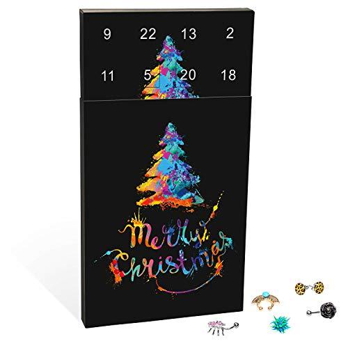 VALIOSA Piercing Adventskalender,Merry Christmas\' mit individuellem Mode-Schmuck für u.a. Ohr, Lippe, Septum oder Bauchnabel, das besondere Geschenk für Männer und Frauen