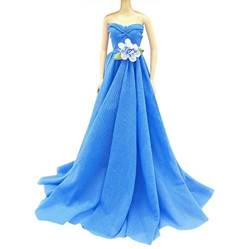 MAJGLGE Majgle Mini-Kleid, handgefertigt, für Barbie-Puppe, Rosarot blau