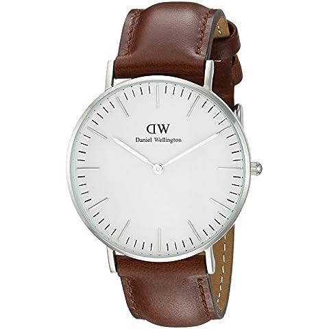 Daniel Wellington 0607DW - Reloj con correa de acero para mujer, color blanco / gris