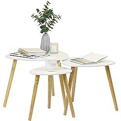 Hartleys Tables Rétro Gigognes - Blanc