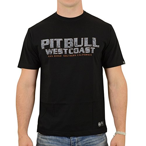 Pit Bull West Coast Männer T-Shirt Fighter Schwarz - M -