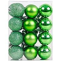 Da.Wa 1x (24pcs) Bola Colgante Decoración de Bolas de NavidadNavidad DIY para Decoración de Boda, Fiesta Festiva 9 * 6 * 12cm Verde