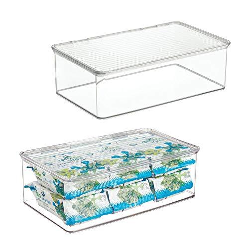 MDesign Juego 2 cajas organizadoras tapa - Cajas almacenaje