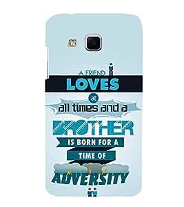 FUSON Friend Love Brother Adversity 3D Hard Polycarbonate Designer Back Case Cover for Samsung Galaxy J3 Pro :: Samsung Galaxy J3 (2017)