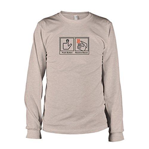 Texlab - Push Button Receive Bacon - Langarm T-Shirt, Herren, Größe L, Graumeliert
