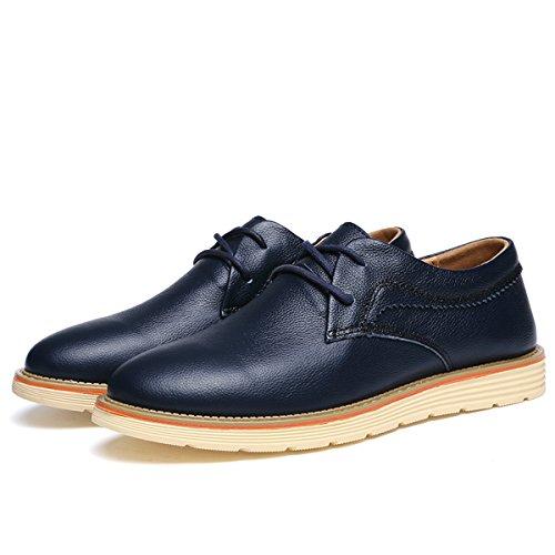 Miyoopark , Chaussures de ville à lacets pour homme Bleu