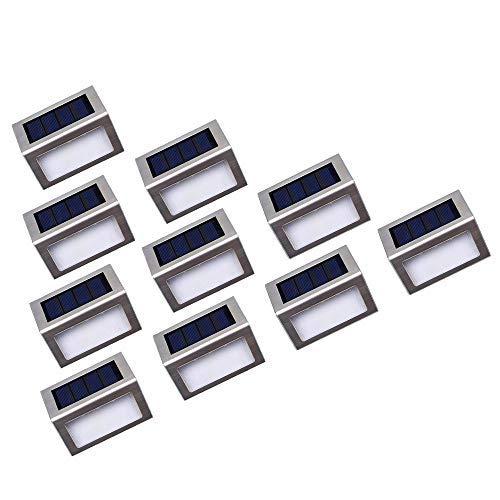 Luces Solares LED exterior Jardín Nateer, Lámparas solares impermeable Ip44, amino de...