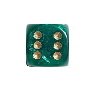 Philos 12mm Dados en Bolsa de plástico, Juego de, Pearl (Verde)