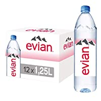 Evian Natural Mineral Water - 1.25 litres (Pack of 12)