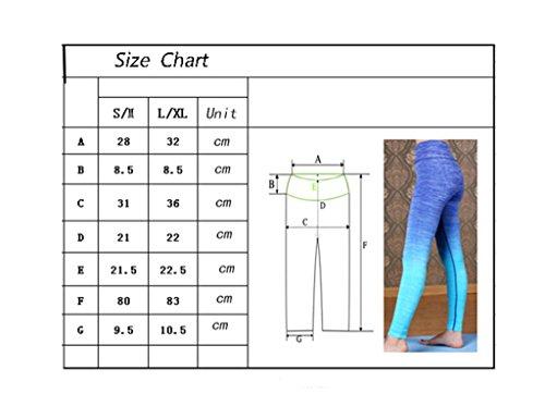 qutool Damen Sport Hose Yoga Leggings Strumpfhosen Workout Hose Running Hose schwarz - schwarz