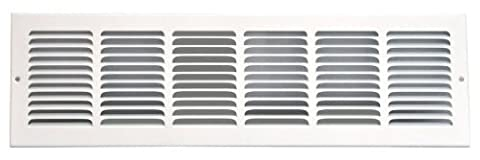 Speedi-Grille SG-248 RAG 24-Inch by 8-Inch White Return Air Vent Grille with Fixed Blades by Speedi-Grille