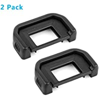 HomyWord (2 PACK) Eyecup Eyepiece / Eye cup / Viewfinder (Canon EF Replacement) Para Canon Rebel (T6i, T6S, T5i T4i T3i T3 T2i T1i XTi XSi XS), CANON EOS 1100D, 600D, 650D, 550D, 500D, 450D, 400D, 350D