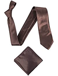 Men's Deluxe Satin Classic Wide Tie with matching Pocket Square