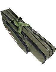 Angeln Fischen Fishing Fischfang Angelgerät Angel Ausrüstung Zubehör Rute Angelrute Fischernrute Tasche Bag Sack Paket grün 90cm