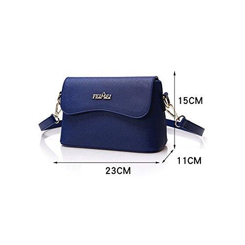 Pacchetto piccolo delle signore, sacchetto di spalla selvatico coreano di modo semplice, zaino obliquo, mini sacchetto di aria ( Colore : Blu zaffiro , dimensioni : 25*10*17cm ) Nero
