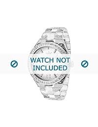 Adidas correa de reloj ADH2506 Plástico Blanco 22mm(Sólo reloj correa - RELOJ NO INCLUIDO!)