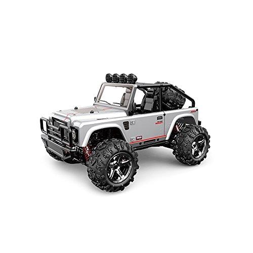 Vatos RC Auto, im Maßstab 1:22, 4WD, mit hoher Geschwindigkeit auf 40 km / h, 2,4-GHz-Elektro-Fahrzeug, 50m Reichweite der Fernbedienung (Silber)
