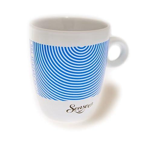 Senseo Limited Edition Tasse, Let us surprise you, Porcelaine, Gobelet, Tasse à Café, Bleu Crème, 180 ml