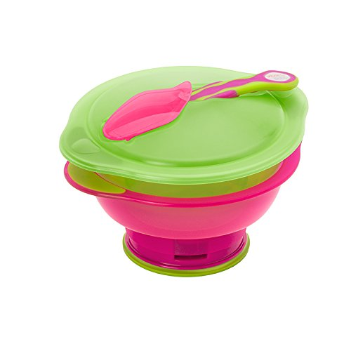 Vital Baby Travel Suction Bowl with Lid and Spoon Unbelievabowl Girl 414tCDWkhAL