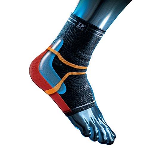 LP Support X-TREMUS 110XT Kompressions Knöchelbandage - Knöchel-Stütze für Sport, Größe:XL, Farbe:schwarz
