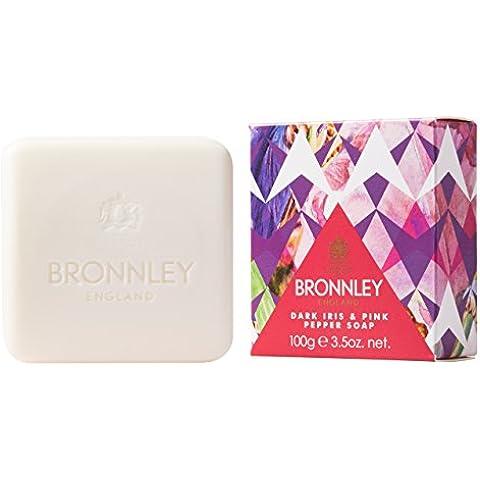 Bronnley Jabón Carton, Iris Oscuro y pimienta rosa