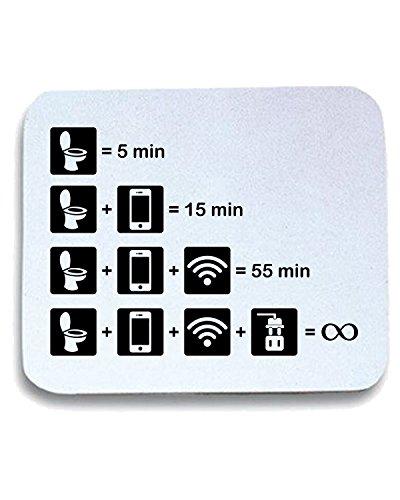T-Shirtshock - Tappetino Mouse Pad T1074 wifi rules fun cool geek, Taglia taglia unica