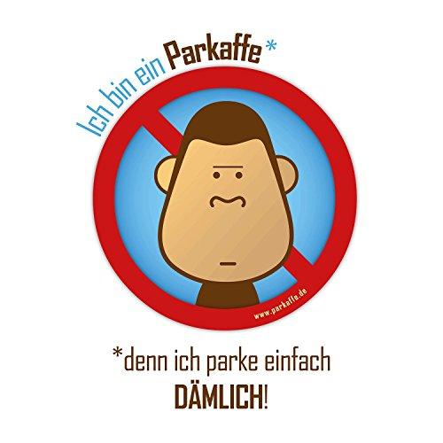 Preisvergleich Produktbild 100 Aufkleber Gegen dämliche Falschparker: Mal Wieder Scheisse geparkt Parkaffe Sticker, Wasserfest, lichtbeständig, auffällig!