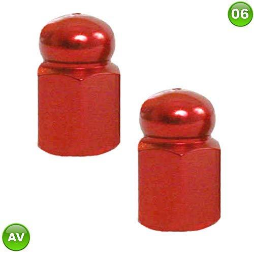 Bootsport-Artikel 2 Deckel Ventil Led Leuchtend Rot Auto Rollermotorrad Fahrrad Metall Neu