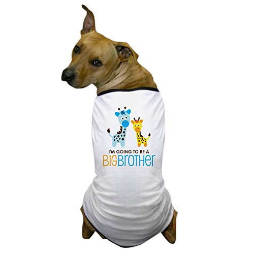CafePress – Giraffe Going To Be A Big Brother – Hund T-Shirt, Haustier Kleidung, Funny Hund Kostüm