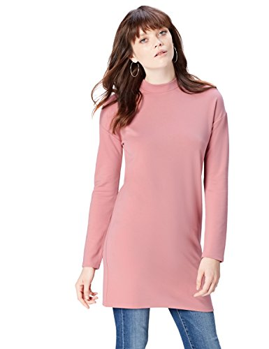 FIND High Neck Vestido para Mujer, Rosa (Old Rose), 48 (Talla del Fabricante: 3X-Large)