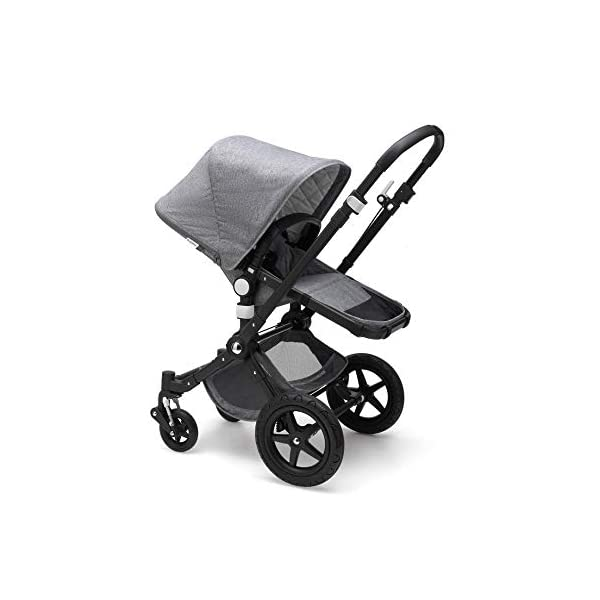 Bugaboo Cameleon³ Plus Classic+ Pushchair - Black + Grey Melange Bugaboo Foam filled rubber tyres Mattress with aerated inlay One hand release carrycot 1
