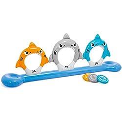 Intex - Juego hinchable Intex tiburones & discos - 267x51x91 cm - 57501NP