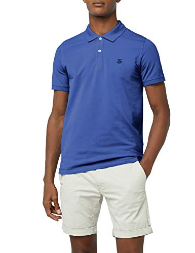 SELECTED HOMME Herren SHDARO SS Embroidery Polo NOOS T-Shirt, Blau (Limoges), XX-Large -