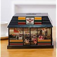 Preisvergleich für DOUERDOUYUU Ein Tolles Geschenk Neue Kreative Kunststoff Convenience Store Sparschwein Cartoon Wechselgeld Box (schwarz)