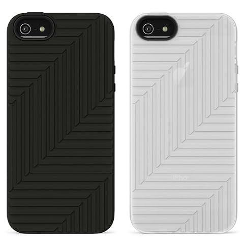 Belkin Matte Flex Case for iPhone 5 - Black/White (Pack of 2)