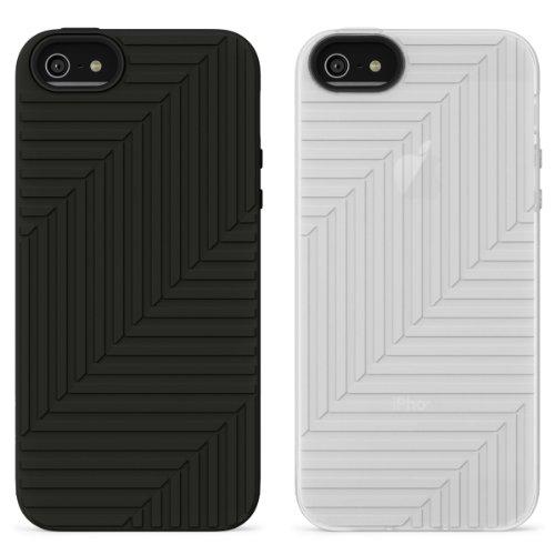 Belkin Flex Case Silikon-Schutzhülle (geeignet für iPhone 5/5s, 2er-pack) schwarz-weiß [Amazon Frustfreie Verpackung]