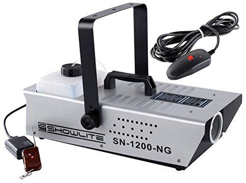 Showlite SN-1200 Nebelmaschine (1200W, 350m³ Nebelausstoß/min, 7 Min. Aufwärmzeit) inkl. Funk Fernbedienung