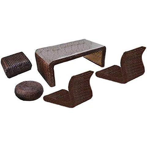 Natural bambú - rota mimbre de escritorio y silla set / escritorio y silla suite / escritorio y silla conjunto / escritorio y sillón / plazas / silla / mesa de centro / mesa de té / tabla de té / mesa auxiliar / tabla de extremo