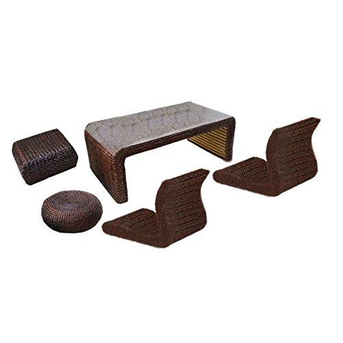 Wicker-schreibtisch-stuhl (Natürlichen bambus - rattan wicker schreibtisch und stuhl set / tisch und stuhl gesetzt / schreibtische und sessel satz / sitzer / sessel / couchtisch / teetisch / couchtisch / beistelltisch / ende tabelle)