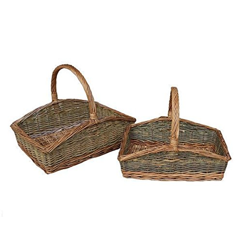 Rectangular Country Unpeeled Wicker Jardín Trug Basket