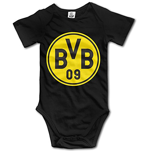 QCNEY Baby 's Borussia Dortmund Body Strampler Overall Baby Kleidung - schwarz -