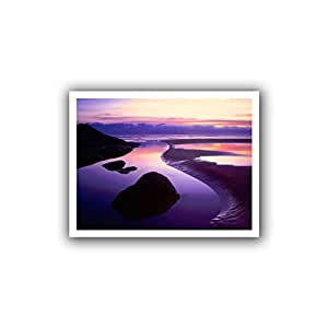 ArtWall Dean Uhlinger 'Fog Bank Sunset' Unwrapped Canvas Wall Art, 22 by 28-Inch